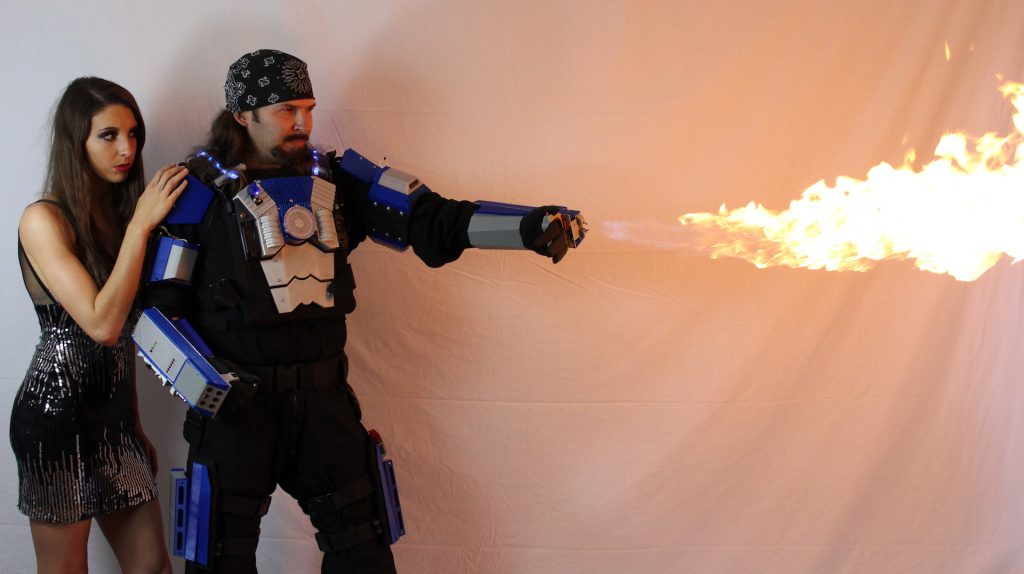 captain intrigue flamethrower